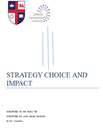 Strategy Impact and Choices: WEEK 30 - FASLANE CASE STUDY
