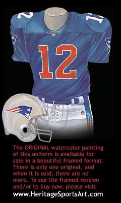 New England Patriots 1993 uniform