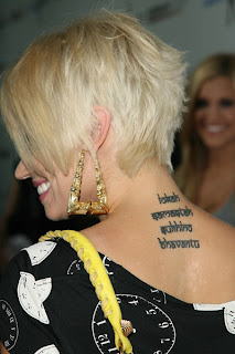 Kimberly Wyatt Tattoo Ideas for Girls - Kimberly Wyatt Tattoo design Photo gallery