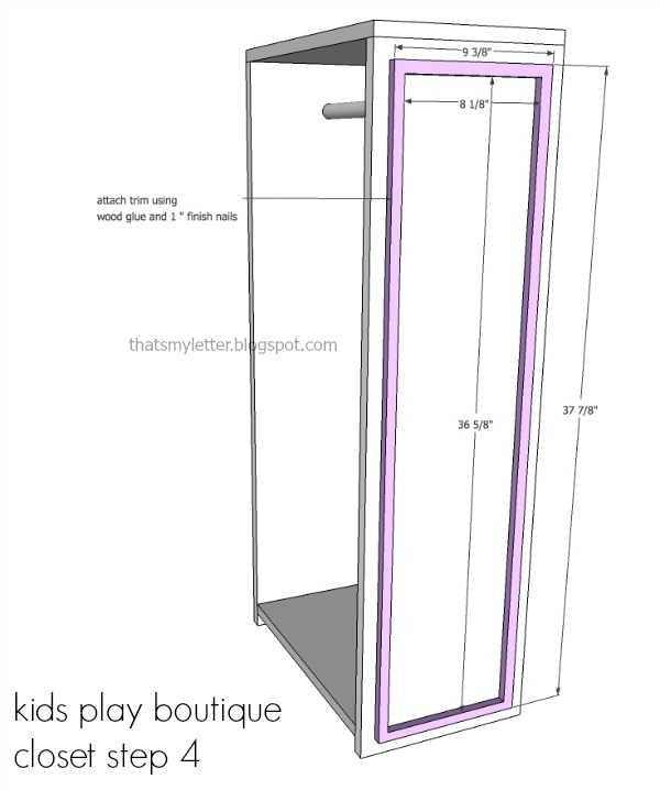 diy kids playstand boutique closet