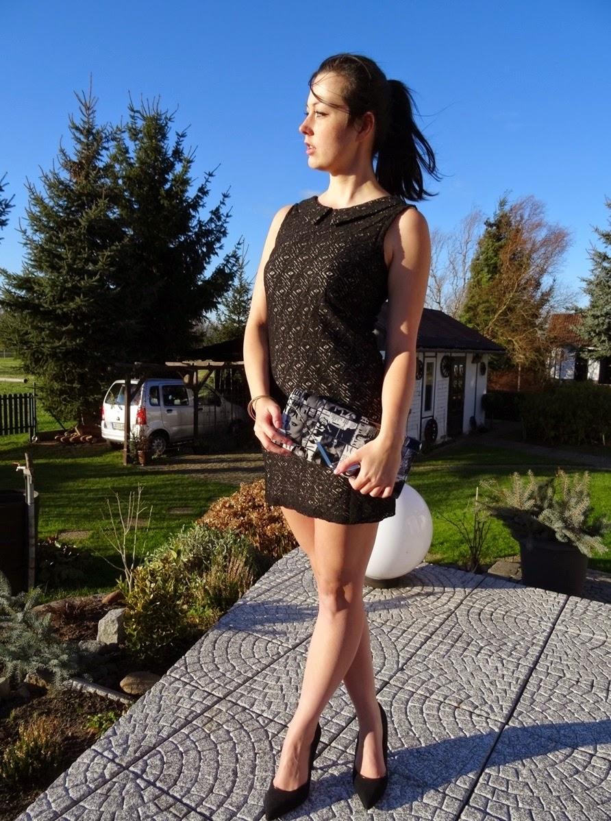 Fashion Post dress and magazine clutch