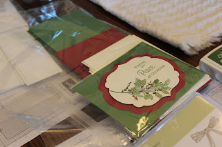 Christmas card made at a Stampin' Up! class in Apex, NC.