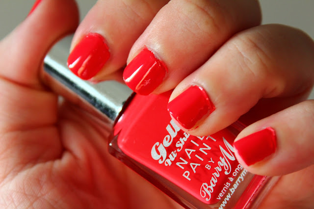 NOTD - Barry M Hi-Shine Gelly in Passion Fruit