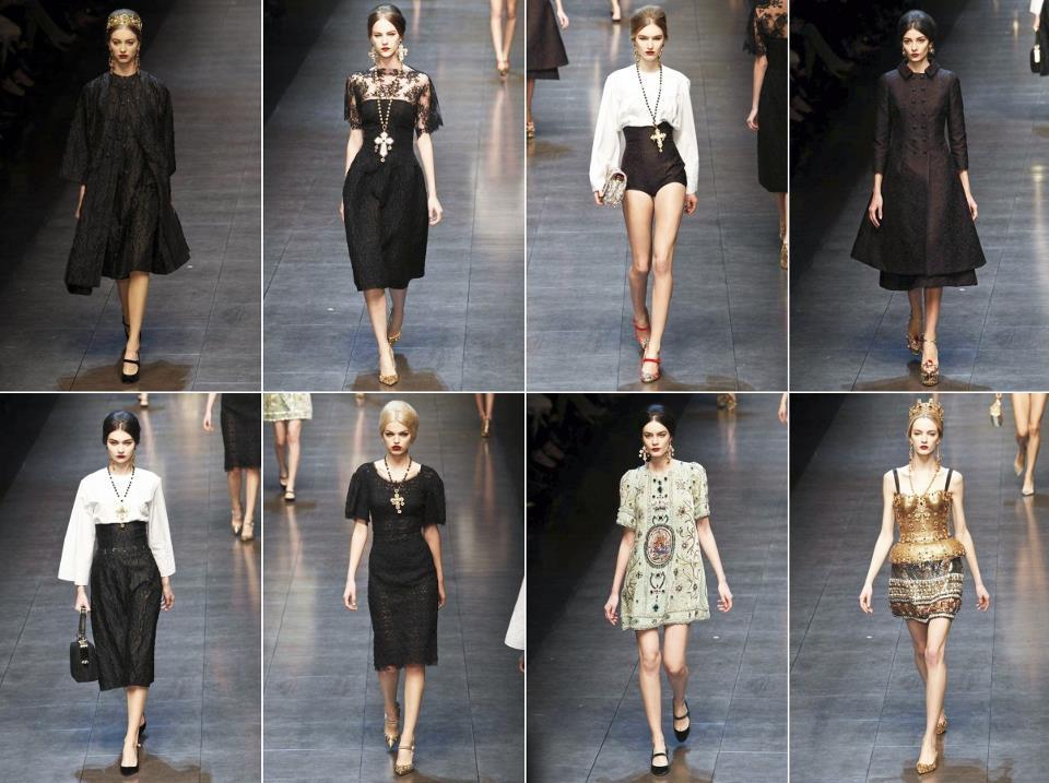 Dolce   Gabbana portano in scena la donna sensuale e lussuosa della nuova  collezione autunno inverno 2013-14 che questa domenica ha lasciato con il  fiato ... 073d81f7478