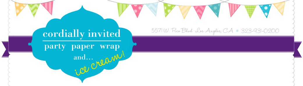 Party Paper & Wrap with Cordially Invited !!