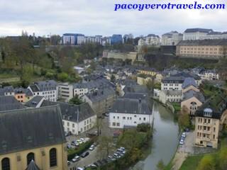 Le chemin de la Corniche en Luxemburgo