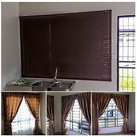 Curtain wallpaper laminated flooring indoor and outdoor for Home wallpaper kuching