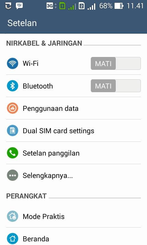 Pengaturan Handphone Android
