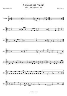 """Partitura de Caresse sur l´océan para Violín Partituras de los Chicos del Coro Otra partitura """"Les Choristes"""" (la más conocida... pincha aquí) Music Score Violin Sheet Music Les Choristes Los Chicos del Coro score"""