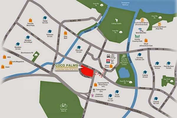 Coco Palms Location Map