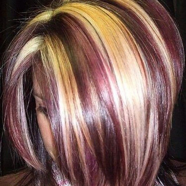 A Month In Hair Colors Today Multi Colored Highlights
