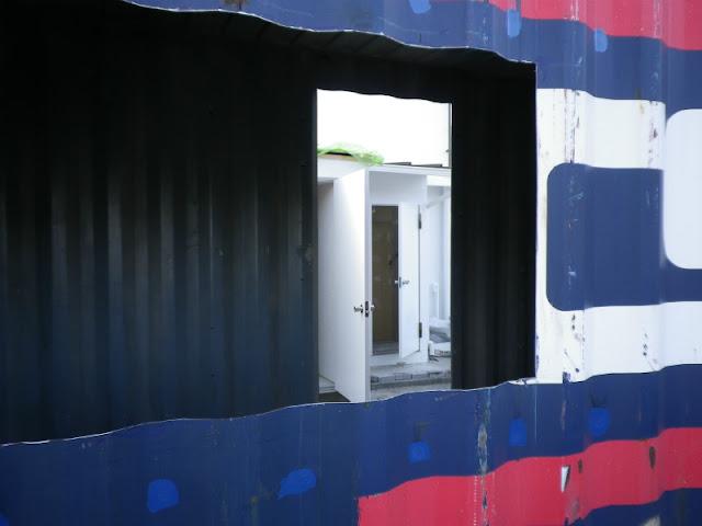 中古コンテナ 納品 配送 施工