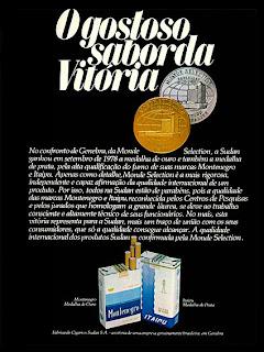 propaganda cigarros Montenegro e Itaipu - 1978. propaganda anos 70; história decada de 70; reclame anos 70; propaganda cigarros anos 70; Brazil in the 70s; Oswaldo Hernandez;