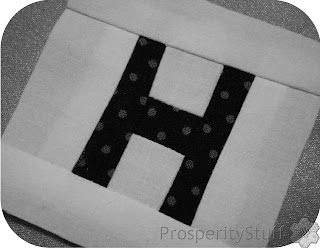 Crossword Quilt Letter H