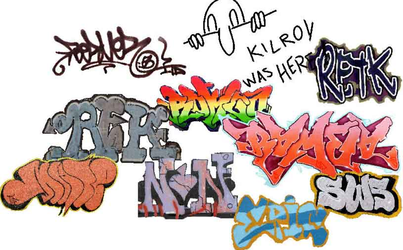 Label graffiti styles