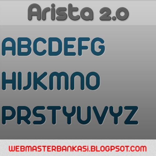 Arista 2.0 Yazı fontu indir