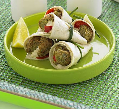 Falafel Wraps With Houmous & Pickled Chilli Recipe