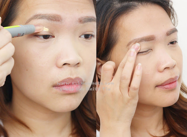 How to use Benefit Air Patrol BB Cream Eyelid Primer