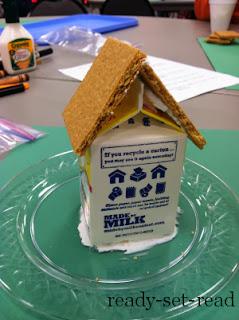 milk carton gingerbread house, christmas activities for kids
