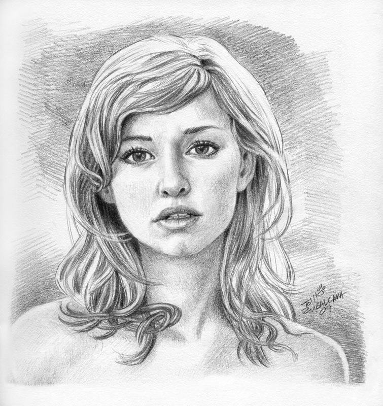 Pencil arts february 2011 for Awesome face drawing