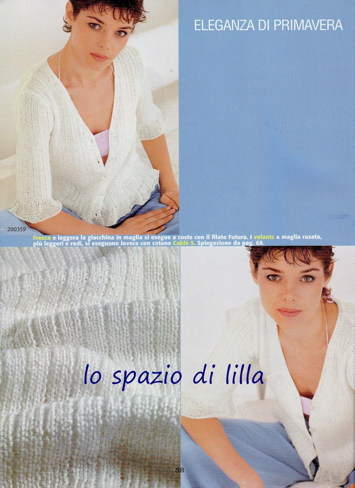 Eccovi alcuni splendidi modelli di maglia traforata in cotone da