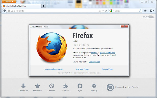 Free Download Mozilla Firefox 16.0.2 Final New Version