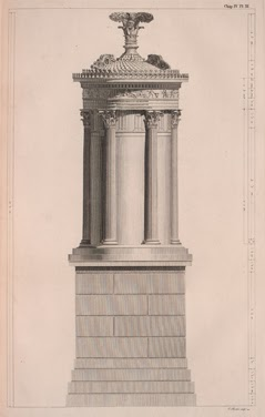 Lysicrates Monument depicted in The Antiquities of Athens
