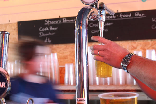 Sharps's Brewery pint being poured