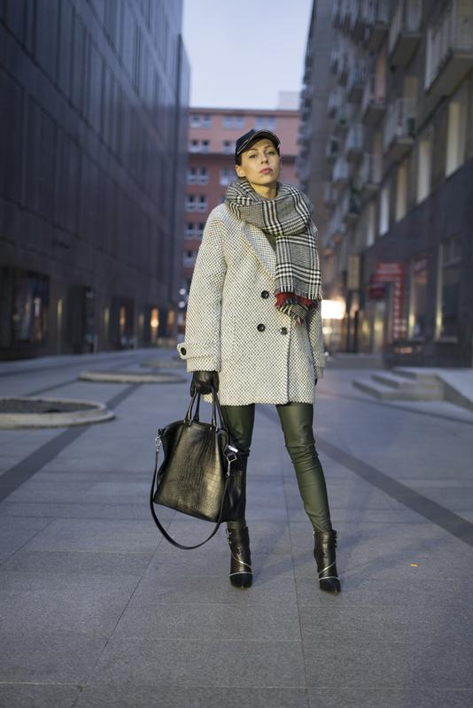 oversize grey coat, szary płaszcz oversize