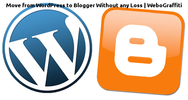 Move from wordpress to blogger.