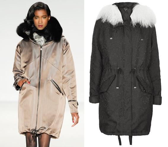 Topshop Luxe Parka coat