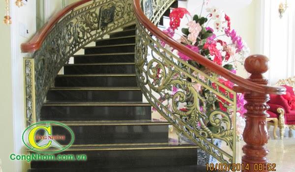 cầu thang hợp kim nhôm đúc