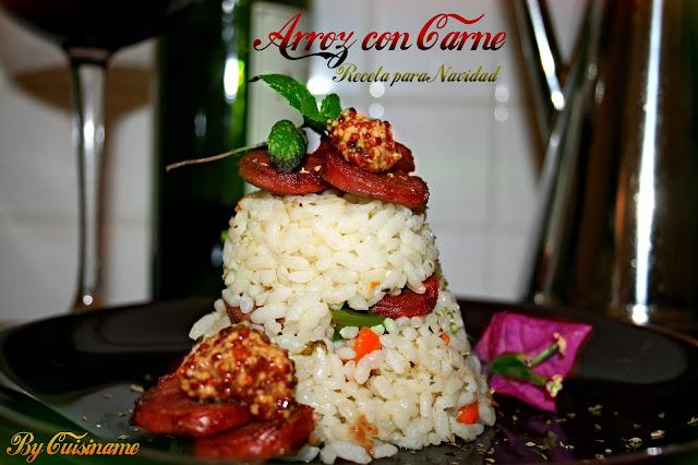 arroz con carne, carne, arroz, arroz con verduras, recetas de navidad, recetas originales, recetas fáciles, yummy recipes, gastronomía, humor, blog cocina, recetas caseras, navidad