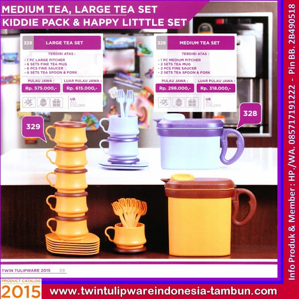 Large Tea Set, Medium Tea Set