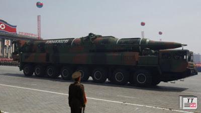 Tên lửa Musudan trong lễ diễu binh năm ngoái tại Bình Nhưỡng.