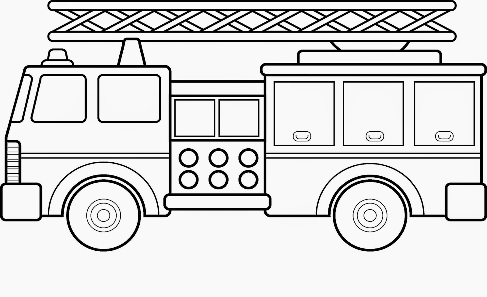 Fire truck coloring sheet free coloring sheet for Trucks coloring pages