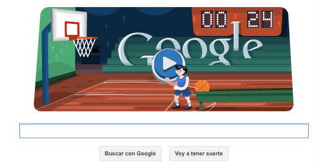 Juega basquetbol con el doodle de Google