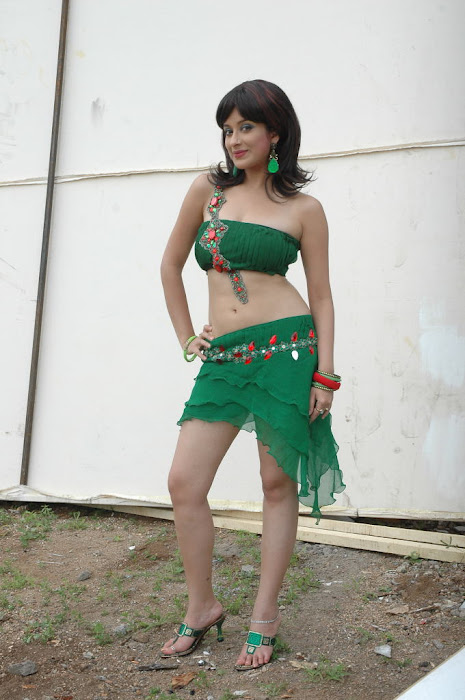 Latest Pictures of Madhurima in Designer Green Short Skirt & Top