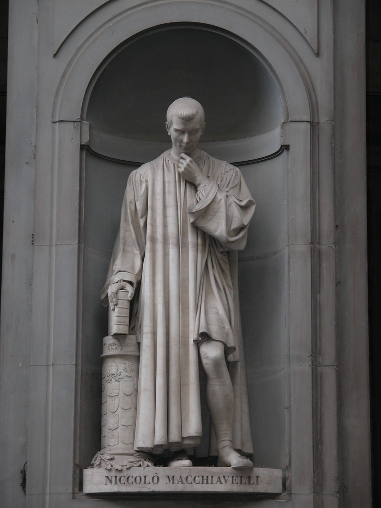political philosophy and machiavelli 4 essay Contrasting accounts of political life: aristotle and machiavelli  reading political philosophy: machiavelli to  of the essay but it is .