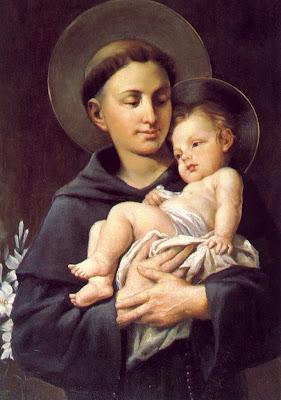 San Antonio de Padua con el Niño Jesus en Brazos