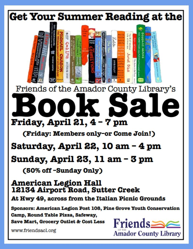 FACL Book Sale - April 21, 22 & 23