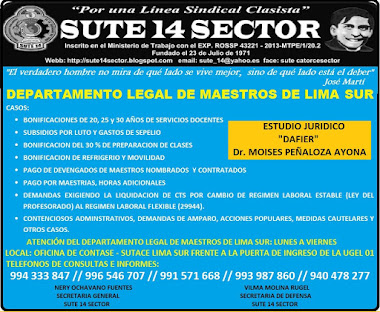 DEPARTAMENTO LEGAL DE MAESTROS DE LIMA SUR