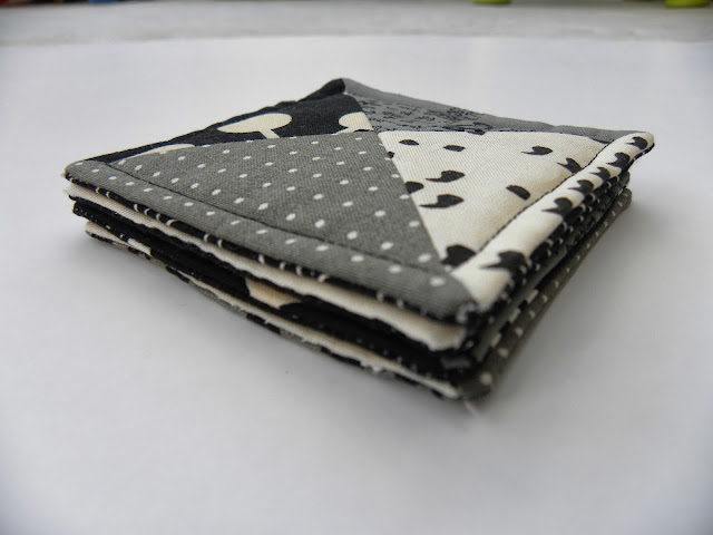 Monochrome Patchwork Coasters