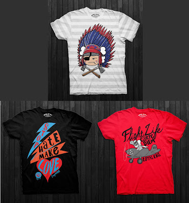 Loyal K.N.G. Fall 2012 T-Shirt Collection - Chief Atama, Stop Hate Make Love & Flight Life