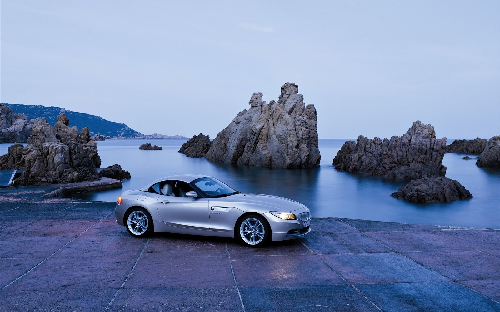 Full Hd Bmw Bay Cliff Rocks Car