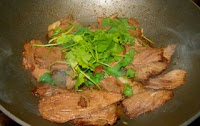 Chinese beef and coriander