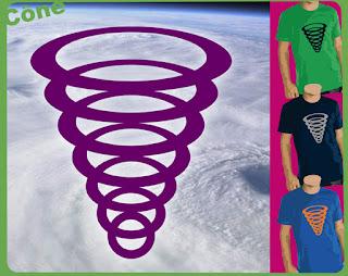 cône conioque forme simple arrondie fumerolle cercle  tee-shirt t-shirt  flex www.rueduteeshirt.com