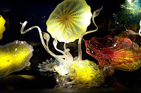 Glass sculptures of jellies