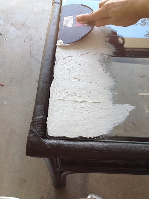 Trash To Treasure - DIY Outdoor Table Mastic
