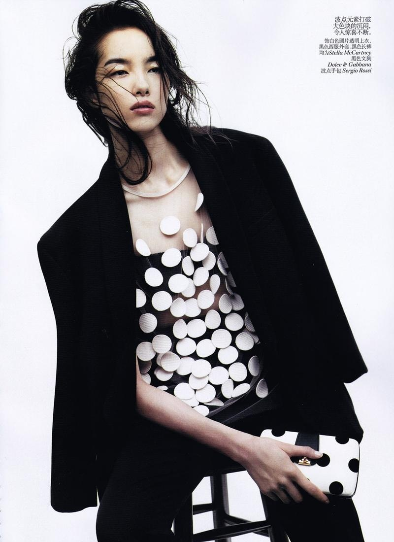 ASIAN MODELS BLOG: EDITORIAL: Sun Fei Fei in Vogue China ... The Most Beautiful Black Baby In The World
